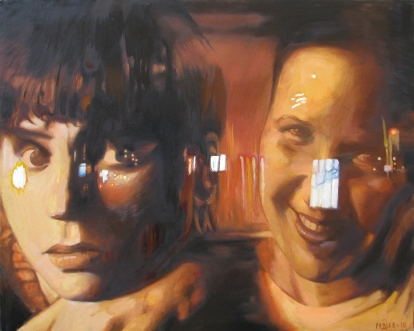 Night - II,oil,canvas,100x125
