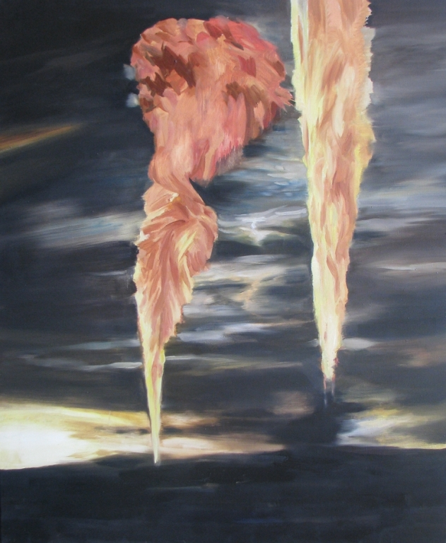 Two explosions,2010,oil,canvas,140x115